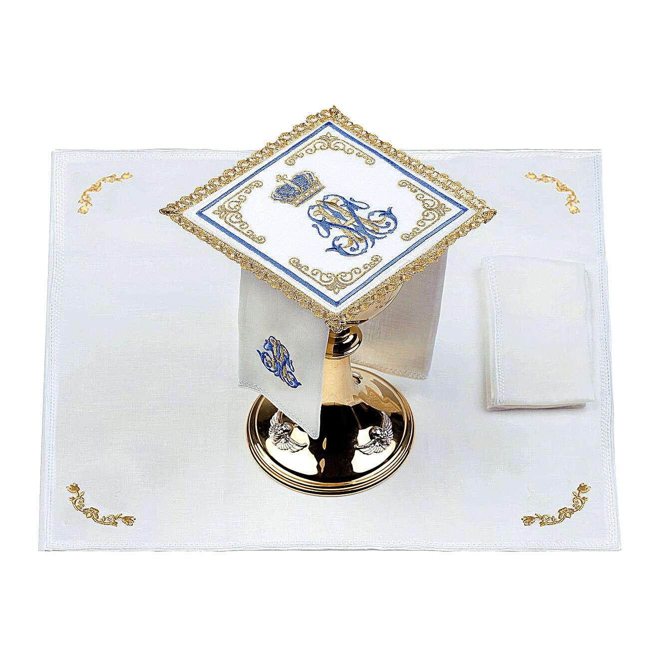 Conjunto altar 100% linho mariano coroa 4