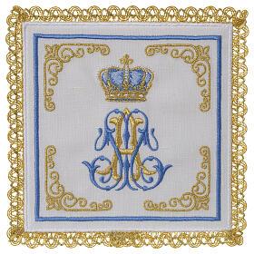Conjunto altar 100% linho mariano coroa s1