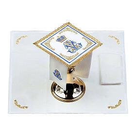 Conjunto altar 100% linho mariano coroa s2