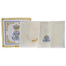 Conjunto altar 100% linho mariano coroa s3