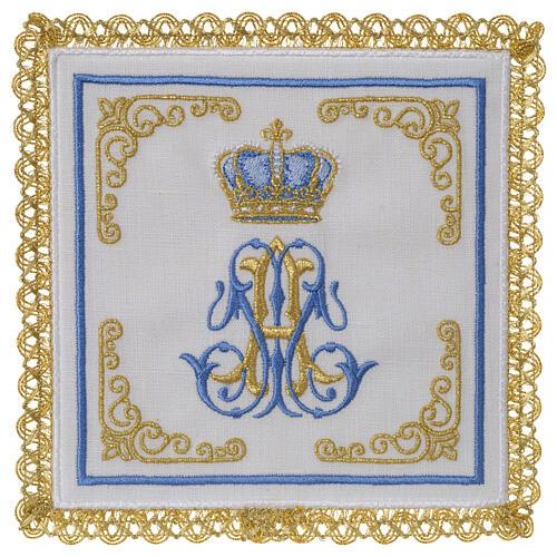 Conjunto altar 100% linho mariano coroa 1