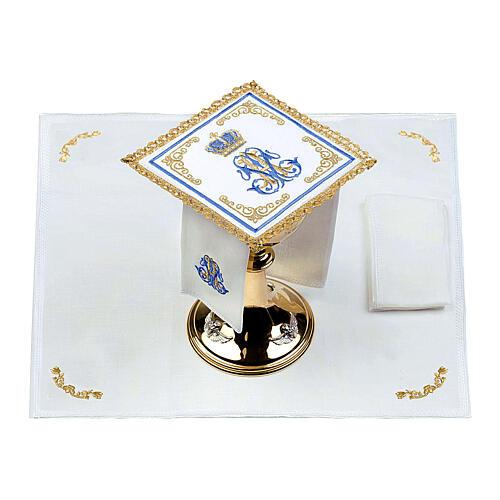 Conjunto altar 100% linho mariano coroa 2