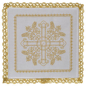 Servicio de altar 100% hilo Cruces con espigas s1