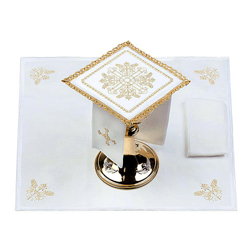 Servicio de altar 100% hilo Cruces con espigas 2