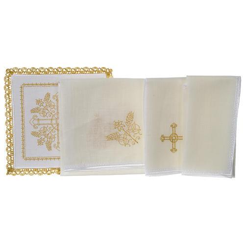 Servicio de altar 100% hilo Cruces con espigas 3