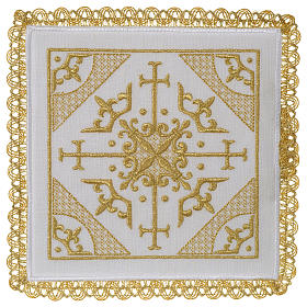 Altar cloth set 100% linen with modern design embroidery s1