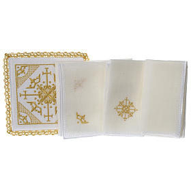 Altar cloth set 100% linen with modern design embroidery s3
