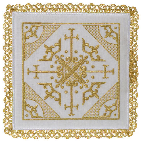 Altar cloth set 100% linen with modern design embroidery 1