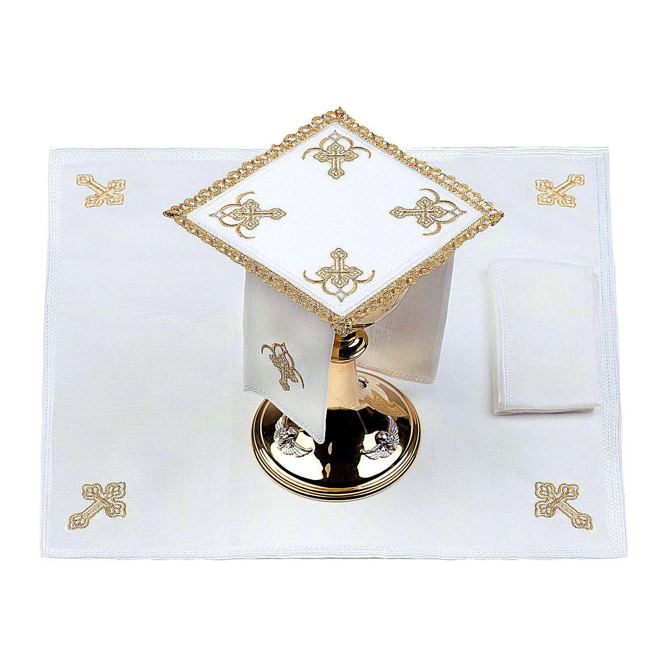 Servicio de altar 100% hilo cuatro Cruces 4