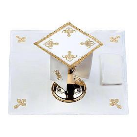 Servizio da altare 100% lino quattro Croci s2