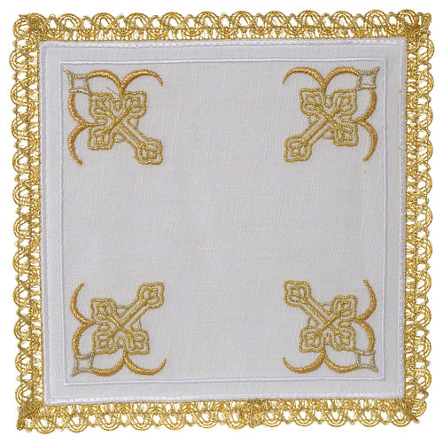 Mass linen set 100% linen four crosses 1