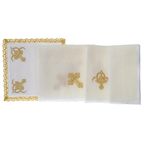 Mass linen set 100% linen four crosses 3