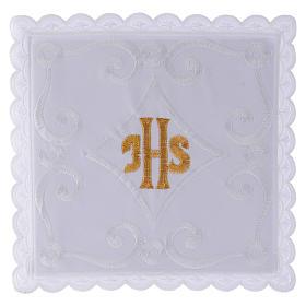 Servicio de altar con escrita IHS oro s1