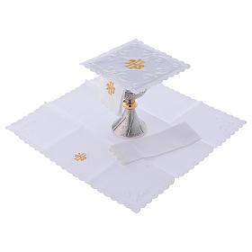 Servicio de altar con escrita IHS oro s2