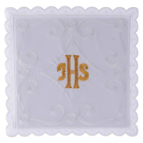 Servicio de altar con escrita IHS oro 1