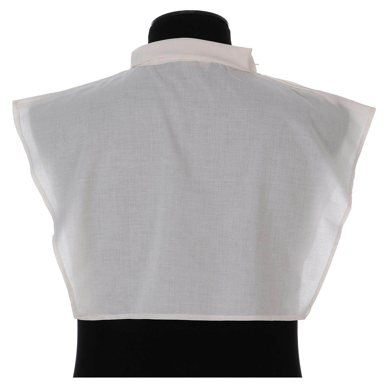 Amito marfil 55% poliéster 45% algodón cremallera hombro 4