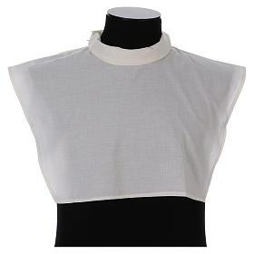 Amito marfil 55% poliéster 45% algodón cremallera hombro s1