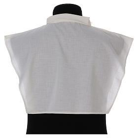 Amito marfil 55% poliéster 45% algodón cremallera hombro s3