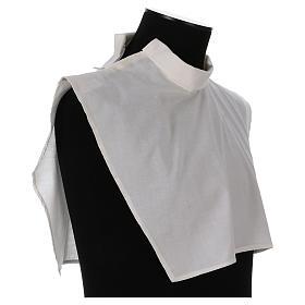 Amito marfil 55% poliéster 45% algodón cremallera hombro s4