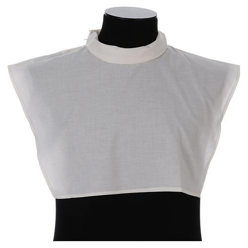 Amito marfil 55% poliéster 45% algodón cremallera hombro 1