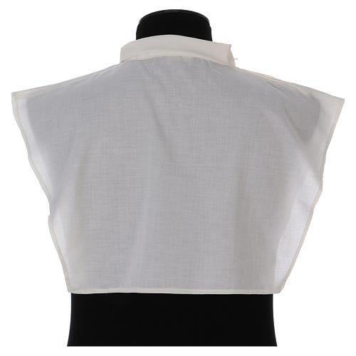 Amito marfil 55% poliéster 45% algodón cremallera hombro 3