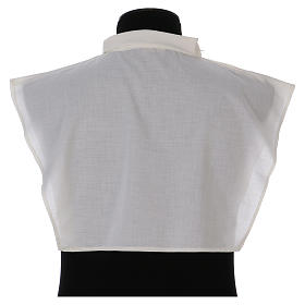 Amice in ivory cotton blend with zip on shoulder s3