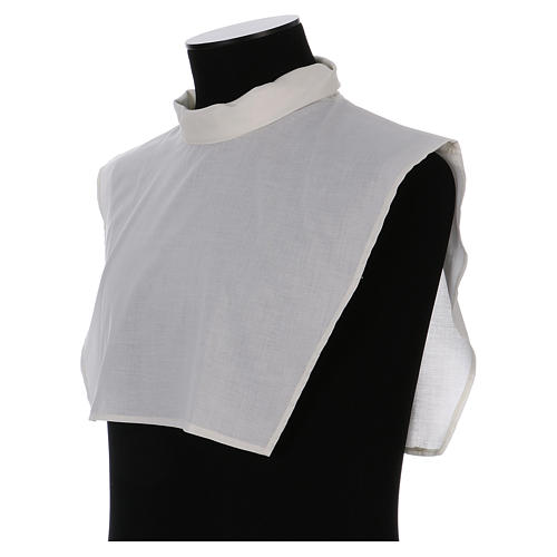 Amice in ivory cotton blend with zip on shoulder 2