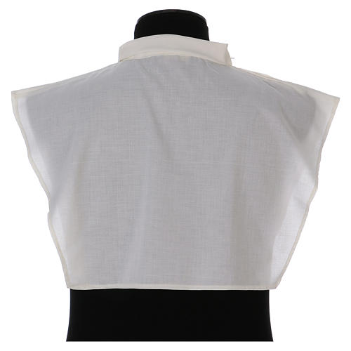 Amice in ivory cotton blend with zip on shoulder 3