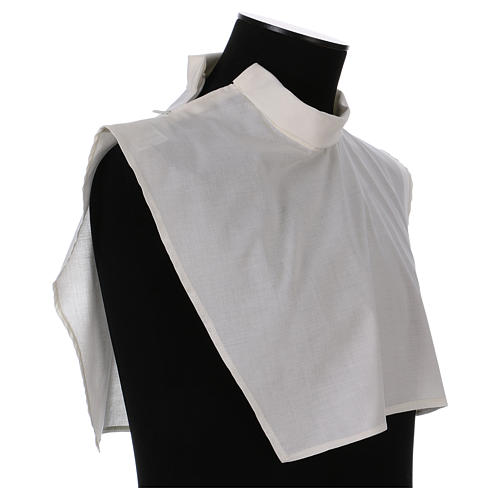 Amice in ivory cotton blend with zip on shoulder 4