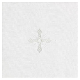 Corporal blanc 100% lin avec broderie blanche s2