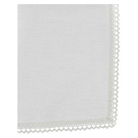 Corporal blanc 100% lin avec broderie blanche s3