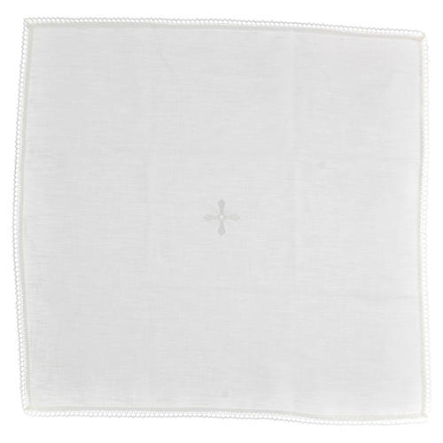 Corporal blanc 100% lin avec broderie blanche 1
