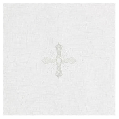 Corporal blanc 100% lin avec broderie blanche 2