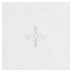 Corporal white 100% linen with white embroidery s2