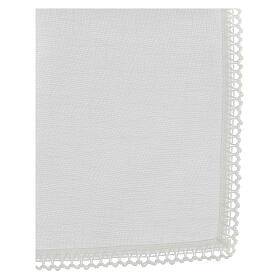 Corporal white 100% linen with white embroidery s3