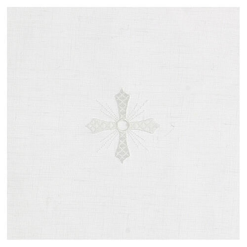 Corporal white 100% linen with white embroidery 2