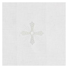 Manutergio blanco 100% hilo con bordados blancos s2
