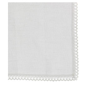 Manutergio blanco 100% hilo con bordados blancos s3