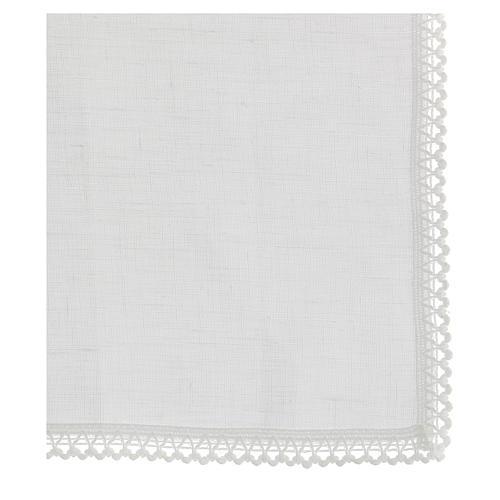 Manutergio blanco 100% hilo con bordados blancos 3