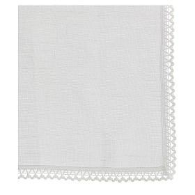 Purificatoire blanc 100% lin avec broderie blanche s3