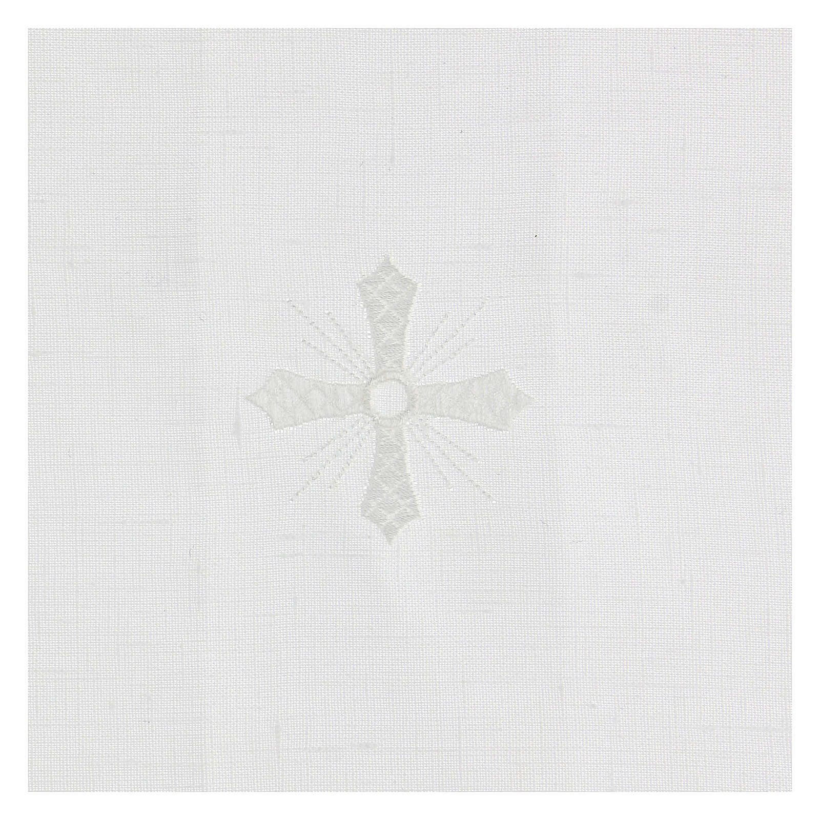 Purificator white 100% linen with white embroidery 4