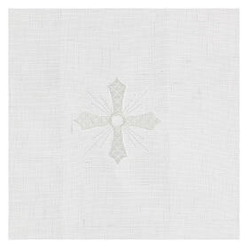 Purificator white 100% linen with white embroidery s2