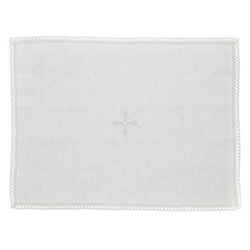 Purificator white 100% linen with white embroidery 1