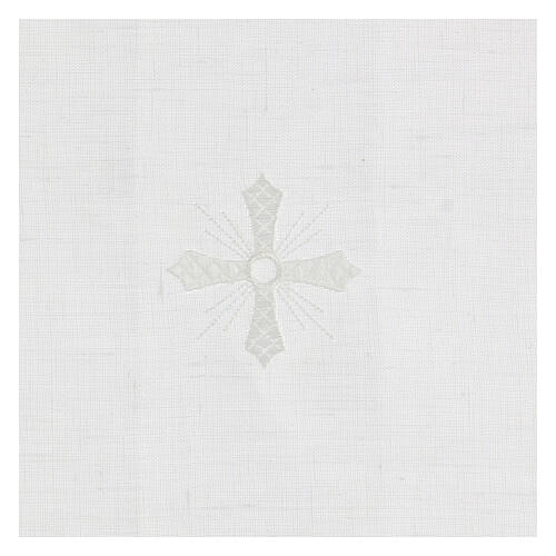 Purificator white 100% linen with white embroidery 2