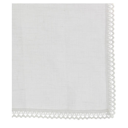 Purificator white 100% linen with white embroidery 3