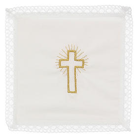 Servicio de misa cruz 100% algodón s1