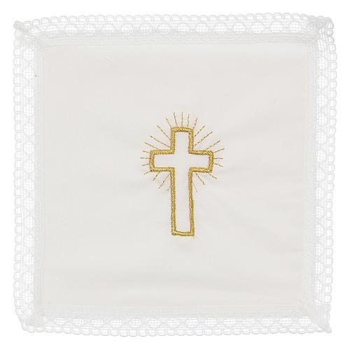 Servicio de misa cruz 100% algodón 1