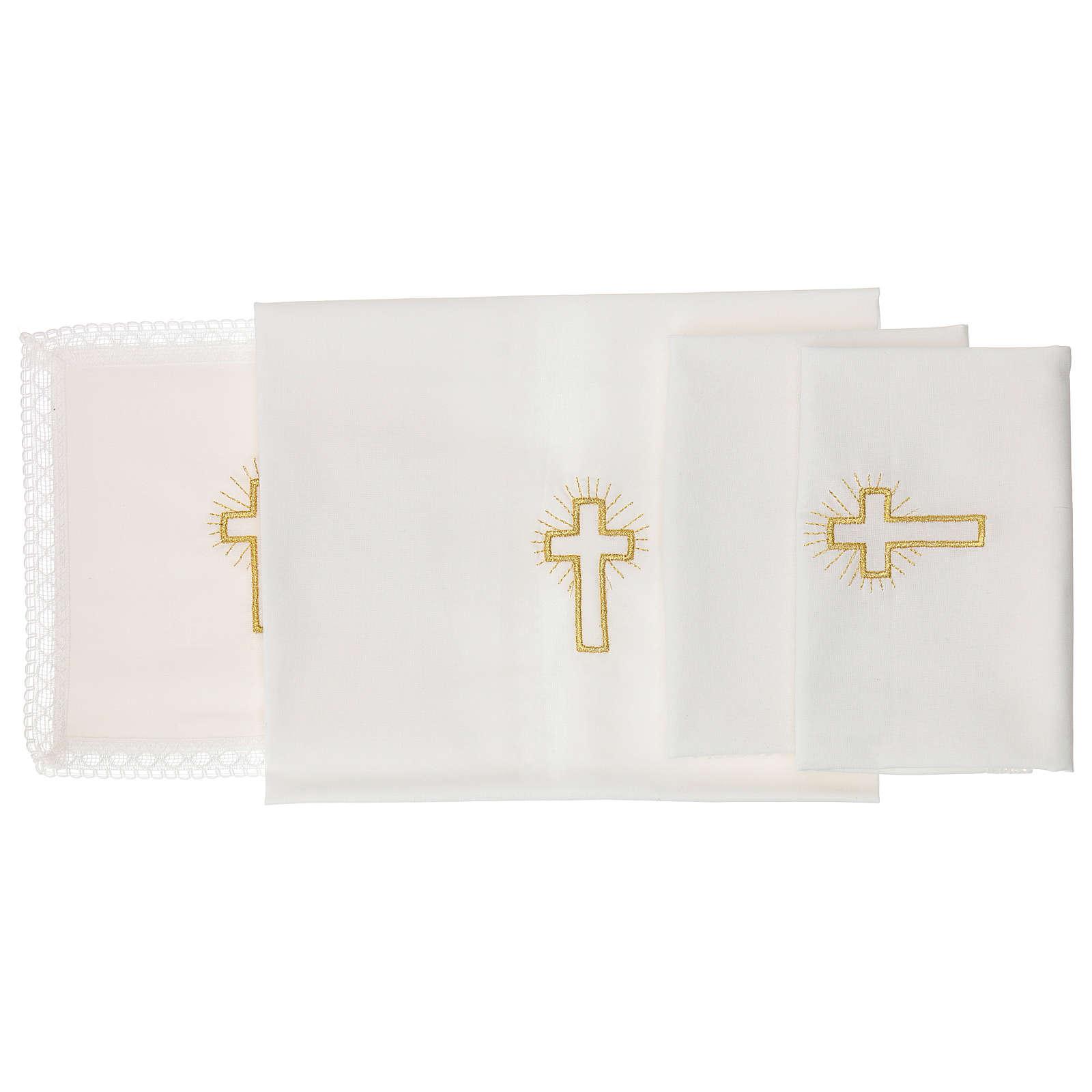 Linge d'autel croix 100% coton 4