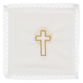 Linge d'autel croix 100% coton s1