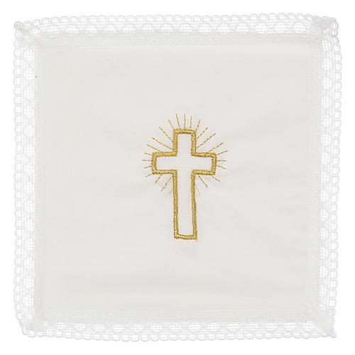 Linge d'autel croix 100% coton 1